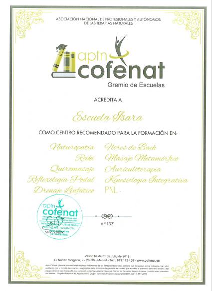 Acreditación COFENAT